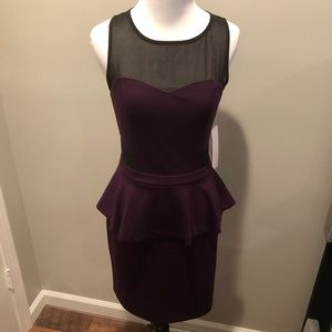 Kensie Dresses - NWT! Kensie purple/black peplum dress